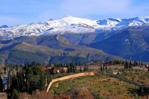 Sierra Nevada desde la Alhambra